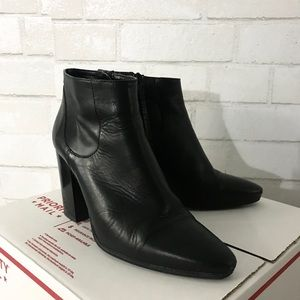 Zara Leather Pointy Booties - size 8